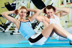 Doing exercise Royalty Free Stock Image