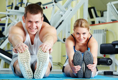 Doing exercise Royalty Free Stock Photography