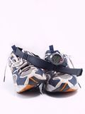 Doing exercise... A pair of old running shoes and a watch and heart rate monitor band stock image