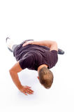 doing exercise hand man muscular one Στοκ φωτογραφία με δικαίωμα ελεύθερης χρήσης