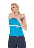 doing exercise stretching woman Στοκ φωτογραφίες με δικαίωμα ελεύθερης χρήσης