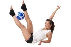 Doing exercises Stock Photo