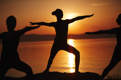 Doing exercises Royalty Free Stock Images