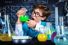 Doing experiments in a lab Stock Photography