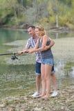Doing fishing for break royalty free stock photos