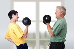 Doing fitness Royalty Free Stock Photo