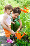 Doing gardening Stock Photo