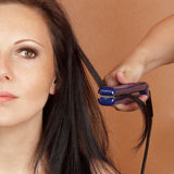 Doing hair Royalty Free Stock Images