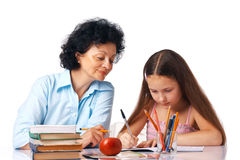 Doing Home-work. Stock Images