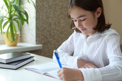 Doing homework Royalty Free Stock Photography
