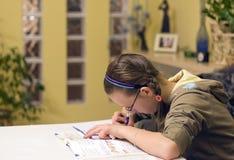 Doing homework stock images
