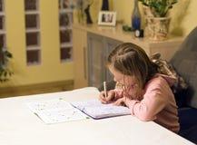 Doing homework royalty free stock photo