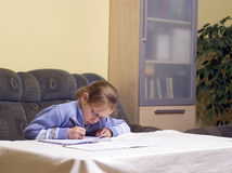 Doing homework Royalty Free Stock Images