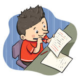 Doing Homework vector illustration