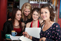 Doing Homework with Friends Royalty Free Stock Image