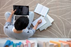 Doing homework Royalty Free Stock Photos