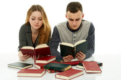 Doing homework together Royalty Free Stock Photography