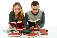 Doing homework together Stock Photo