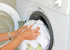 Doing Laundry Royalty Free Stock Image
