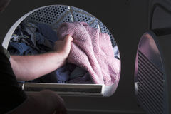 Doing Laundry Royalty Free Stock Images