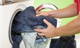 Doing the Laundry Stock Image