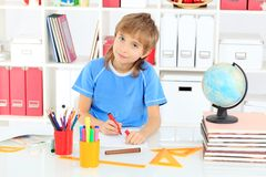 Doing lessons Royalty Free Stock Photography