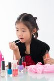 Doing make-up Stock Photo