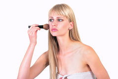 Doing make up Royalty Free Stock Image