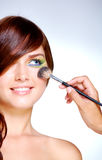Doing makeup Stock Photo