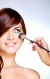 Doing Makeup Stock Photo