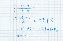 Doing maths background Stock Photography