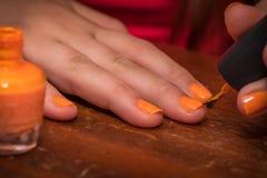 Doing Nails Stock Photos