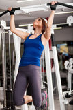 Doing some bar pull ups Royalty Free Stock Images