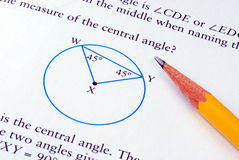 Doing some grade school Math Stock Image