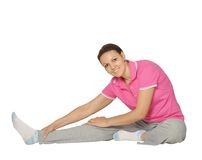 Doing sports exercise Royalty Free Stock Photo