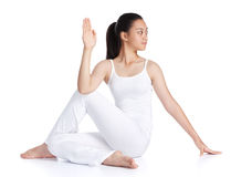 Doing yoga Stock Photography