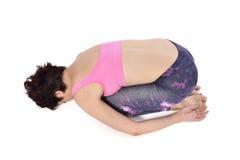 Doing yoga Royalty Free Stock Image