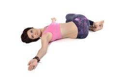 Doing yoga Royalty Free Stock Photo