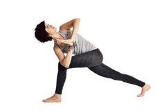 Doing yoga Stock Photos