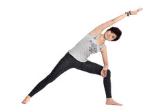 Doing yoga Stock Images