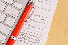 Doing Your Taxes Stock Image