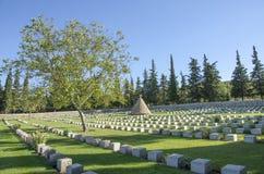 British Doiran Cemetery near vilage Doirani, Greece and Dojran Lake. Doiran Cemetery near vilage Doirani, Greece and Dojran Lake stock images