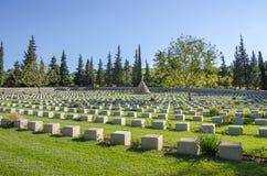 British Doiran Cemetery near vilage Doirani, Greece and Dojran Lake. Doiran Cemetery near vilage Doirani, Greece and Dojran Lake stock photography