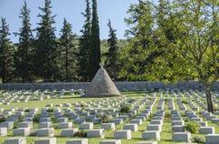 British Doiran Cemetery near vilage Doirani, Greece and Dojran Lake. Doiran Cemetery near vilage Doirani, Greece and Dojran Lake stock photos