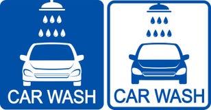 Dois ícones da lavagem de carros Fotos de Stock
