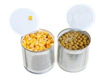 Dois abrem as latas de alumínio Fotografia de Stock