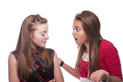 Dois adolescentes novos bonitos Fotografia de Stock Royalty Free