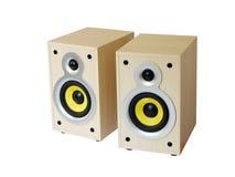 Dois altofalantes de madeira Imagem de Stock