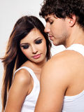 Dois amantes bonitos Imagens de Stock