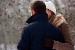 Dois amantes no tempo de inverno Foto de Stock